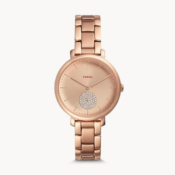 JACQUELINE THREE-HAND ROSE GOLD-TONE STAINLESS STEEL WATCH - Appelt's Diamonds