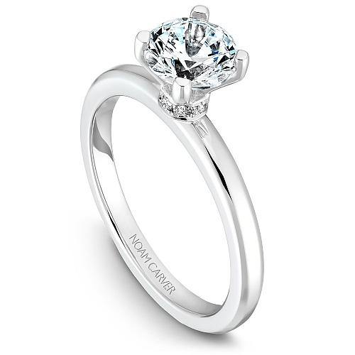 NOAM CARVER SOLITAIRE ENGAGEMENT RING B012-02WM-100A