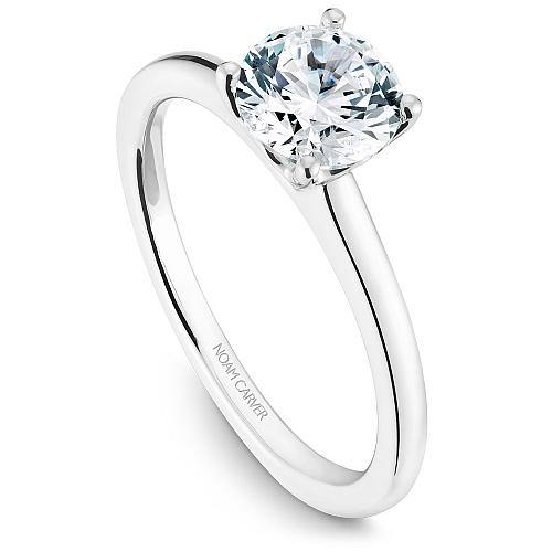 NOAM CARVER 14K GOLD SOLITAIRE ENGAGEMENT RING