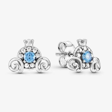 PANDORA DISNEY CINDERELLA PUMPKIN COACH STUD EARRINGS - Appelt's Diamonds