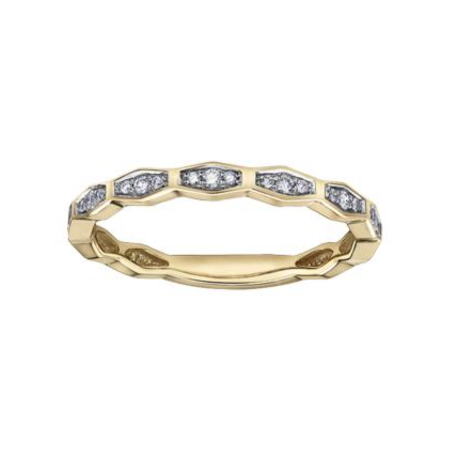 10K YELLOW GOLD 0.10CTW DIAMOND RING - Appelt's Diamonds