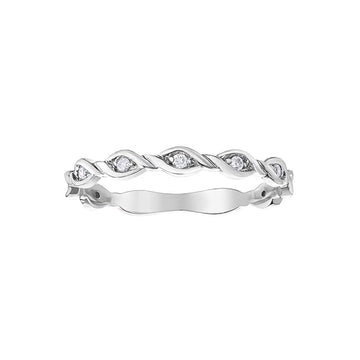 10K WHITE GOLD 0.07CTW DIAMOND RING - Appelt's Diamonds
