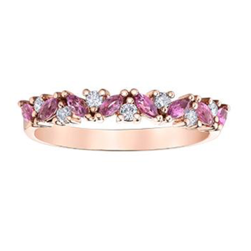 10K ROSE GOLD 0.14CTW DIAMOND AND PINK TOURMALINE RING - Appelt's Diamonds