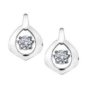 10K WHITE GOLD DIAMOND EARRINGS