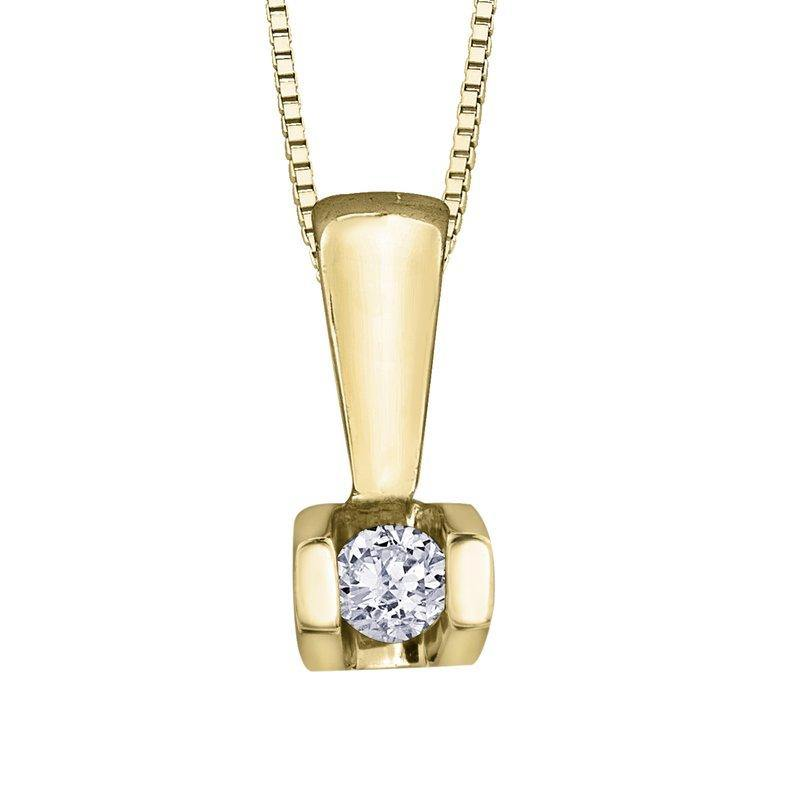 FOREVER JEWELLERY YELLOW GOLD DIAMOND NECKLACE