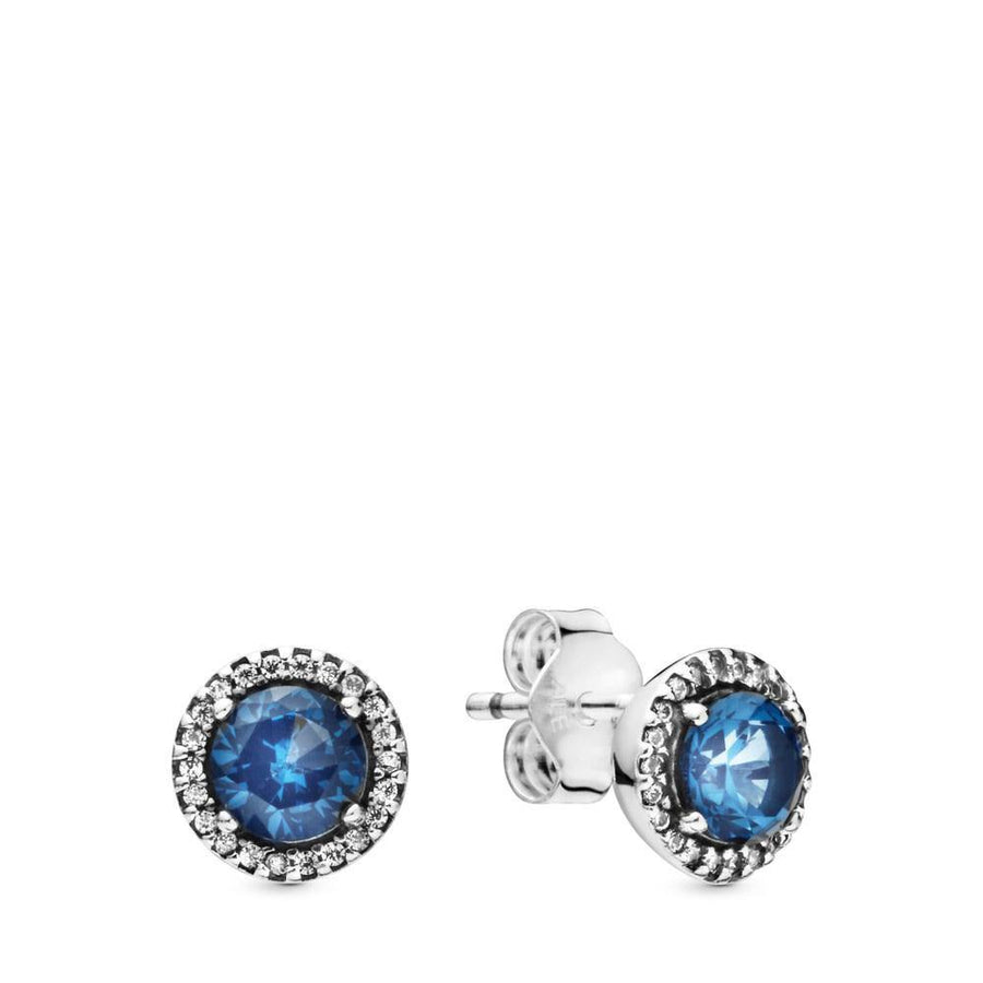 PANDORA BLUE SPARKLE STUD EARRINGS