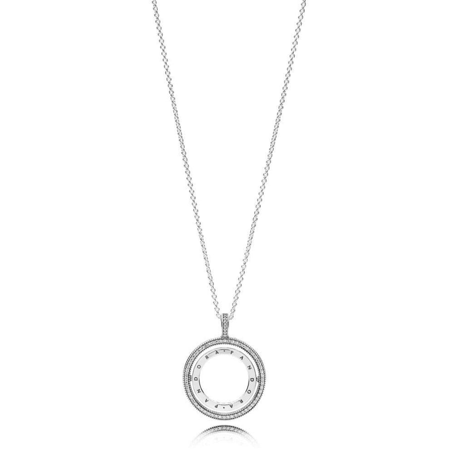 PANDORA SPINNING HEARTS OF PANDORA CZ NECKLACE - Appelt's Diamonds