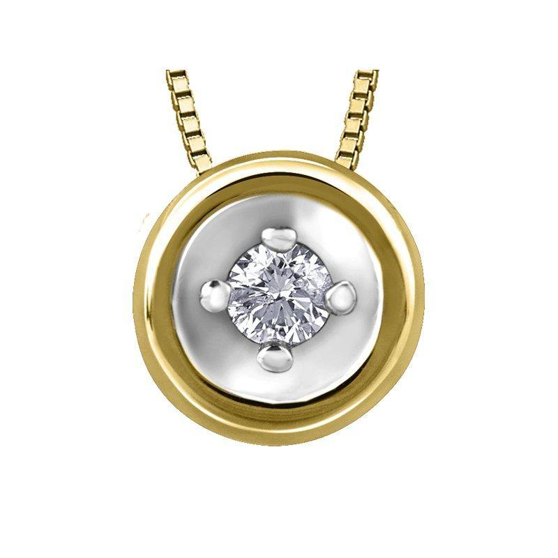 FOREVER JEWELLERY 10K YELLOW GOLD DIAMOND NECKLACE