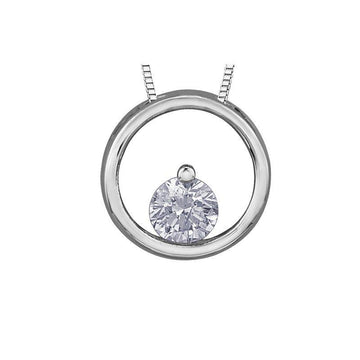 FOREVER JEWELLERY 10K WHITE GOLD DIAMOND NECKLACE