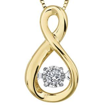FOREVER JEWELLERY 10K YELLOW GOLD DIAMOND NECKLACE - Appelt's Diamonds