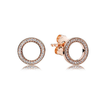 PANDORA ROSE FOREVER PANDORA CZ STUD EARRINGS