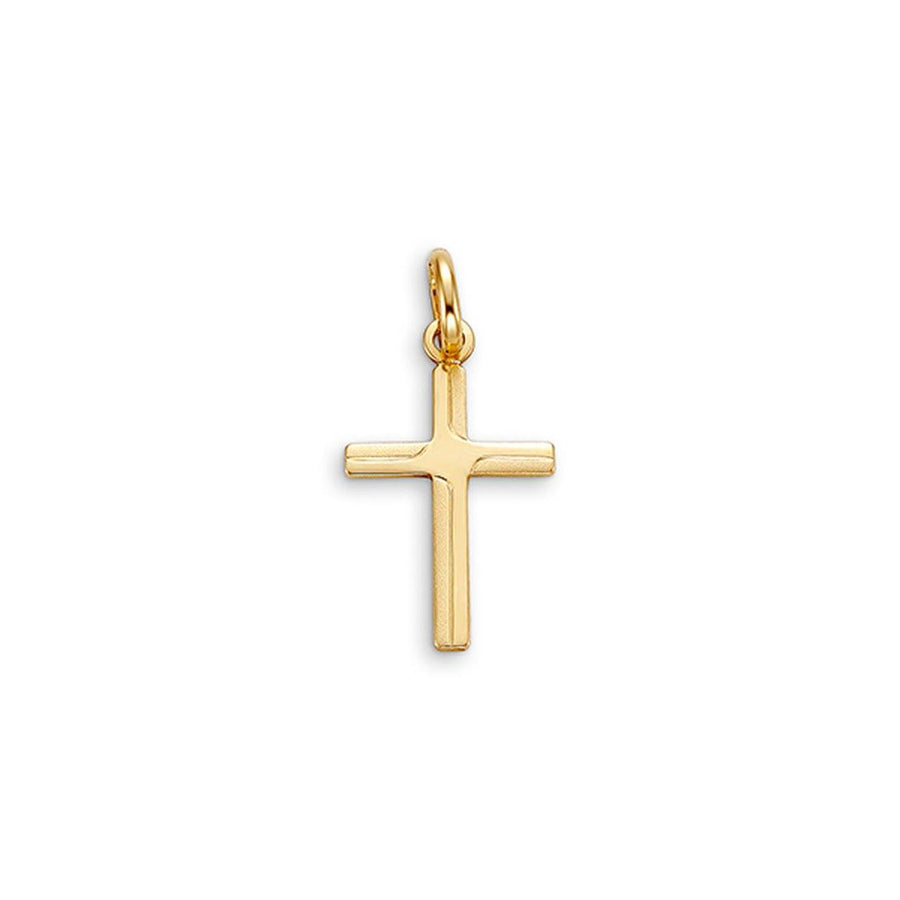10K GOLD CROSS PENDANT 15MM - Appelt's Diamonds