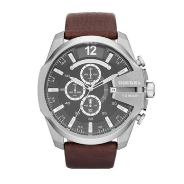 MEGA CHIEF CHRONOGRAPH BROWN LEATHER WATCH