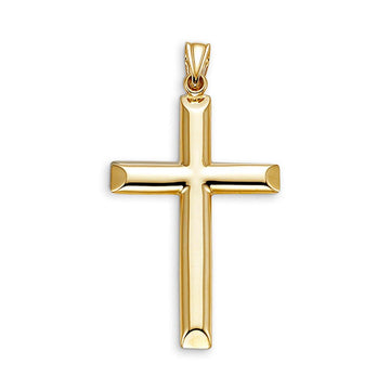 10K GOLD CROSS PENDANT 38MM