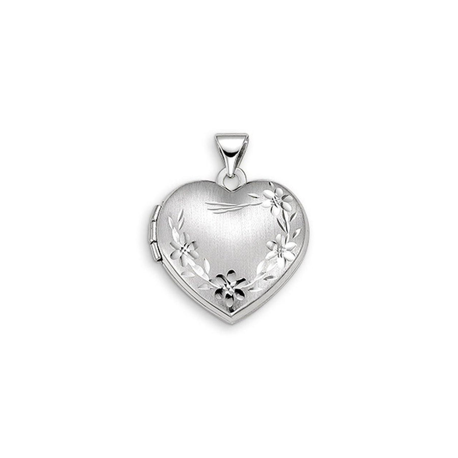 BELLA SENTIMENTS 10K HEART FLOWER LOCKET