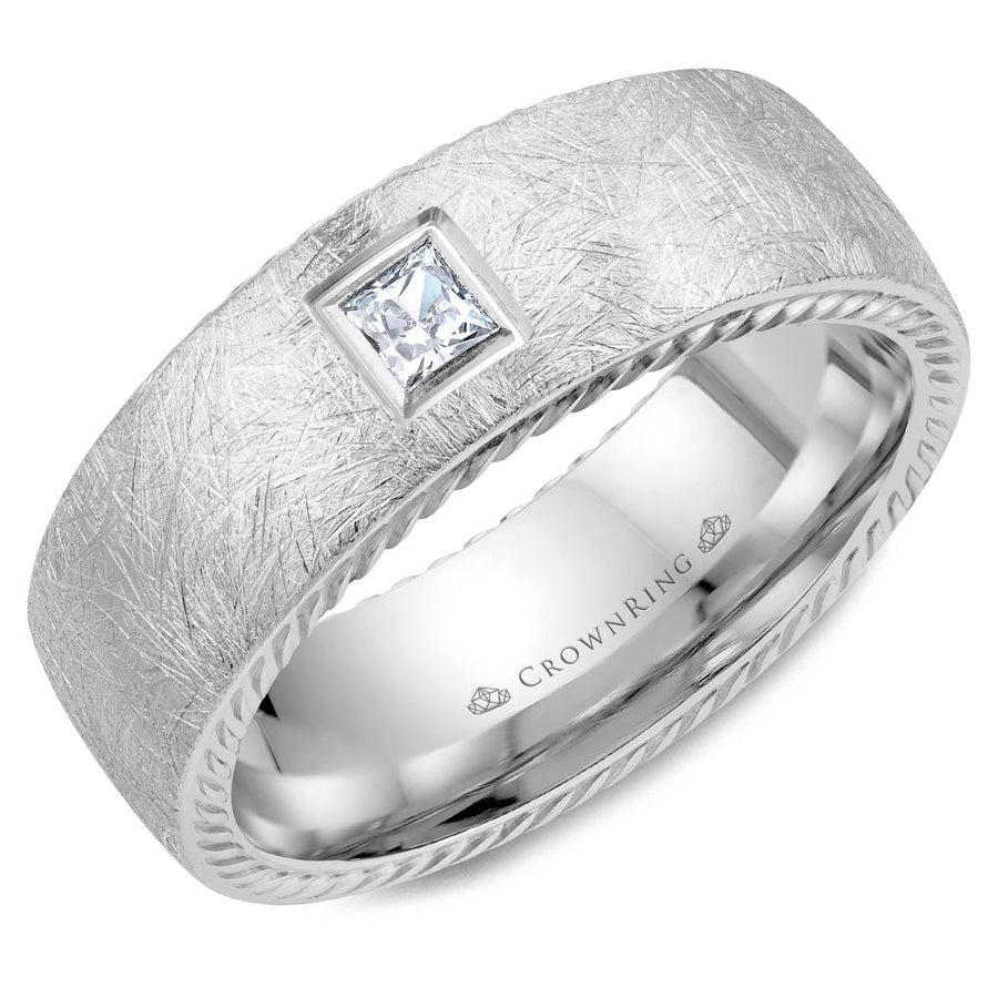 CROWN RING GENTLEMANS WEDDING BAND BR-013RD8W