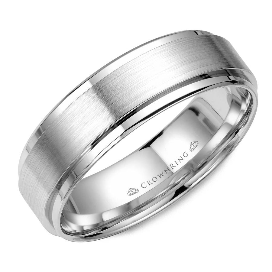 CROWN RING GENTLEMANS WEDDING BAND BR-9034