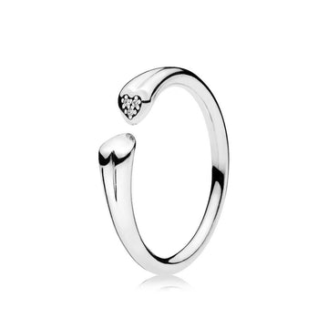 PANDORA  2 HEARTS RING SIZE 7.5 *FINAL SALE