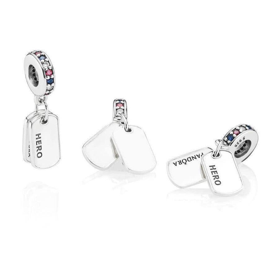 PANDORA HERO DOG TAG CHARM