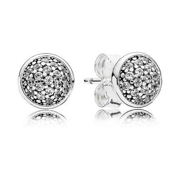 PANDORA DAZZLING DROPLETS CZ STUD EARRINGS
