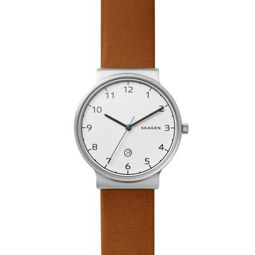 SKAGEN ANCHER COGNAC LEATHER WATCH