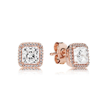 PANDORA ROSE TIMELESS ELEGANCE CZ STUD EARRINGS