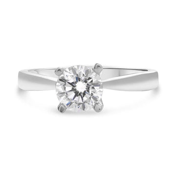 ROMAN & JULES 14K WHITE GOLD SOLITAIRE ENGAGEMENT RING
