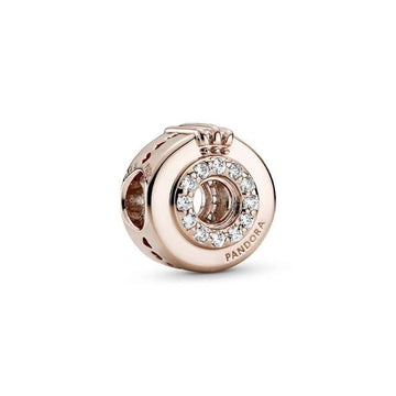 PANDORA ROSE OPEN CENTRE PAVE CROWN O CHARM