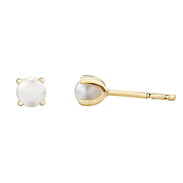 FOREVER JEWELLERY 10K YELLOW GOLD PEARL EARRINGS
