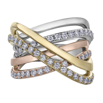 10K TRI GOLD 1.00CTW DIAMOND RING - Appelt's Diamonds