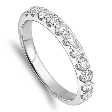 14K WHITE GOLD & DIAMOND LADIES BAND - Appelt's Diamonds
