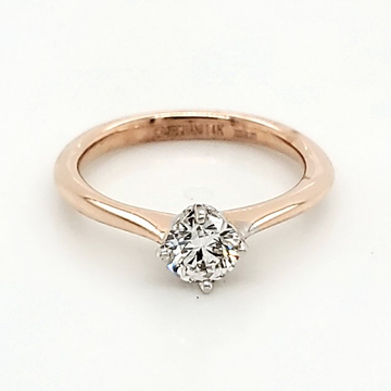 14K ROSE GOLD 0.40 ROUND DIAMOND SOLITAIRE ENGAGEMENT RING