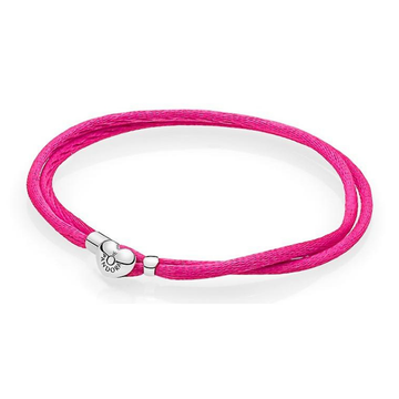 PANDORA HOT PINK DOUBLE FABRIC CORD BRACELET - Appelt's Diamonds