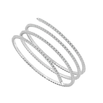 14K WHITE GOLD EMBRACE DIAMOND WRAP BRACELET