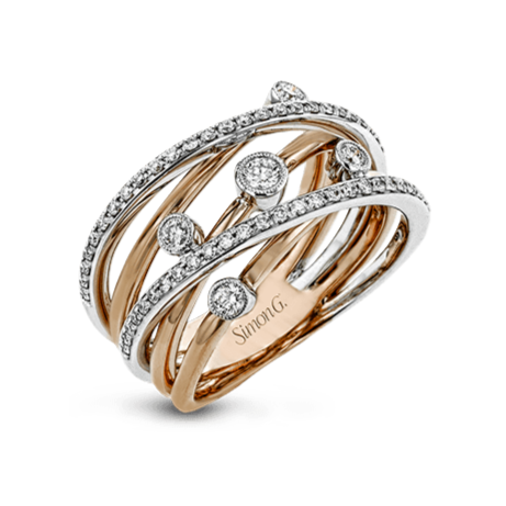 18KW SIMON G FASHION RING - TR694