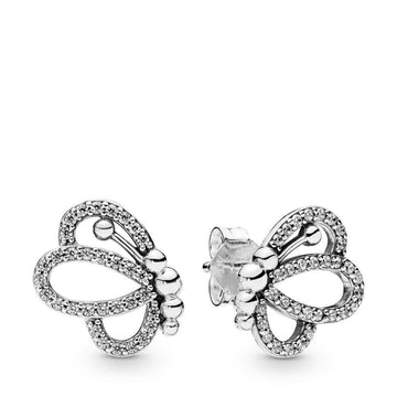 PANDORA BUTTERFLY CZ STUD EARRINGS