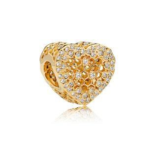 PANDORA SHINE HONEYCOMB LACE CZ BEAD
