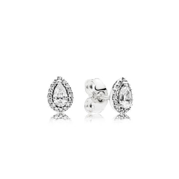 PANDORA SPARKLING TEARDROP HALO STUD EARRINGS