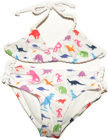 ÉTÉ Mini Triangle Bikini in Dinosaur Print