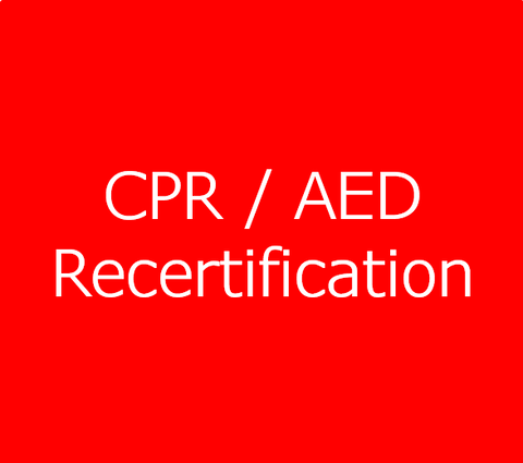 CPR / AED Level A or C - Recertification
