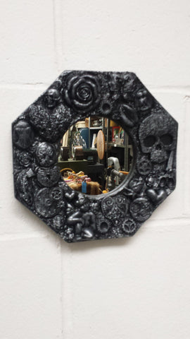 Small Steampunk Style Mirror