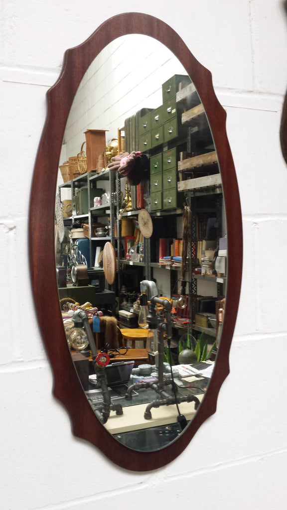 Cherry Wood Framed Mirror