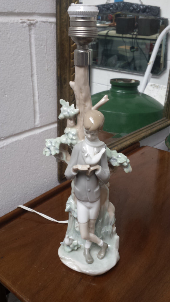 "Lladro Lamp - ""Boy With Dove"""