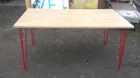 Large Upcycled Beech Table