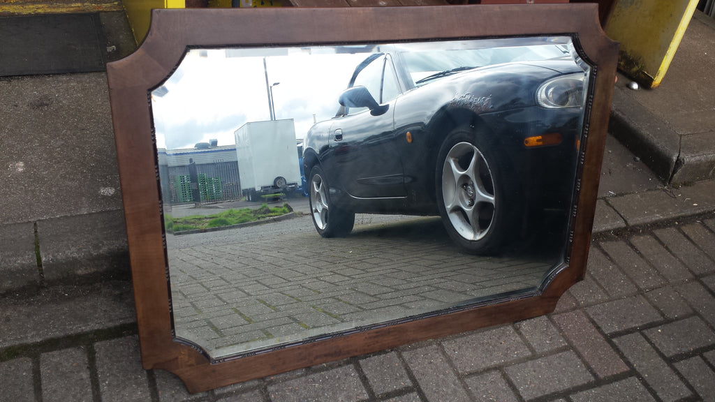 Restored Vintage Oak Mirror