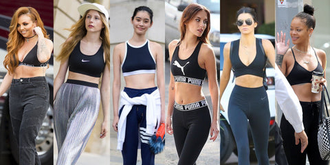 Celebrities and Fashionistas in Sports Bras