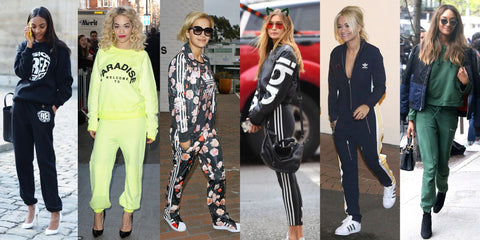 Tracksuit trend with high heels
