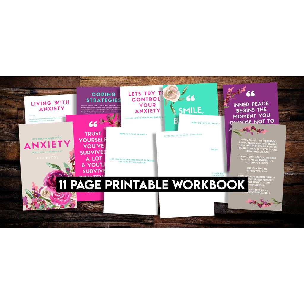 'Managing Your Anxiety / OCD' Printable Workbook -  - KryptikRose®