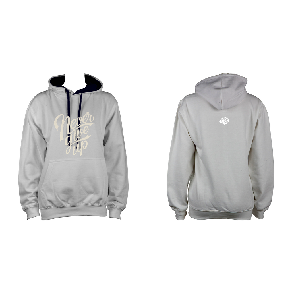 'Never Give Up' Hoodie (Multiple Colours) - AWD Varsity Hoodie - KryptikRose®