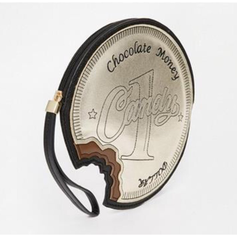 Chocolate Coin Clutch Bag